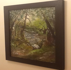 Surreal French Mountain Stream - Oil On Canvas Framed £12,700