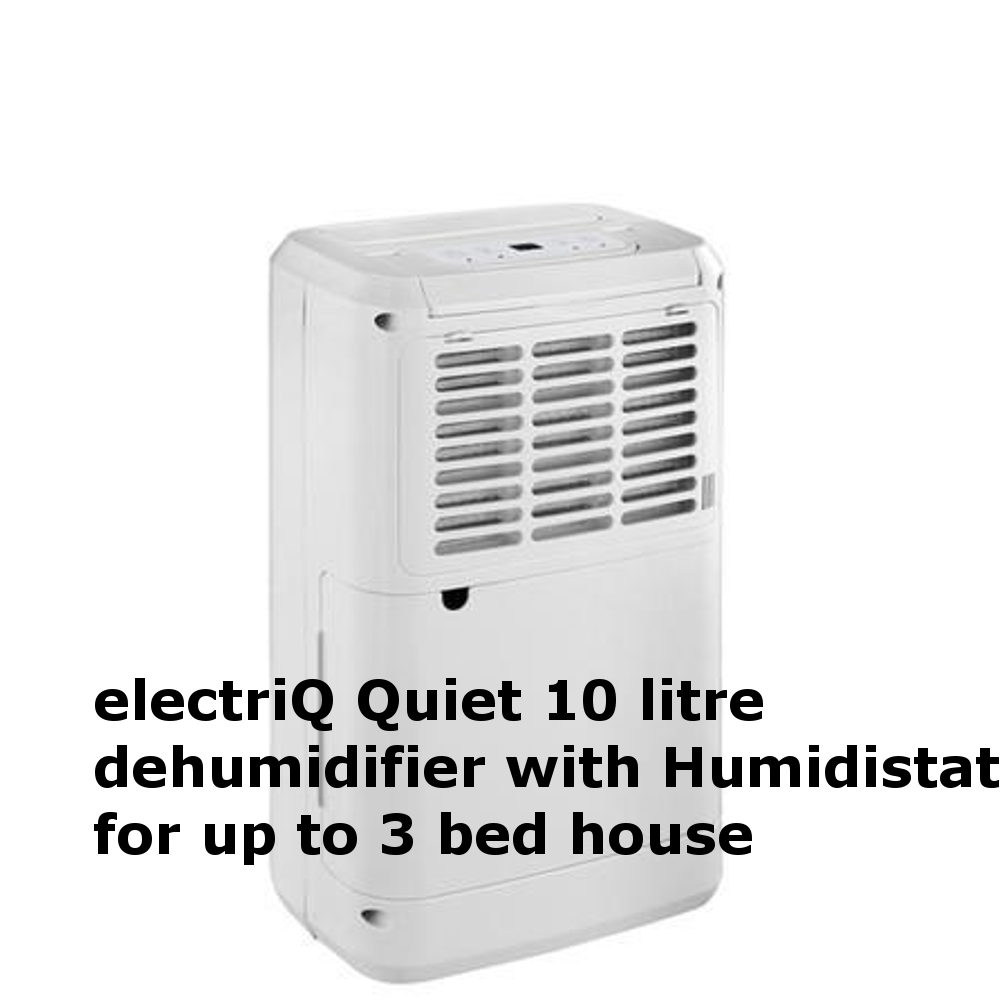 electriQ Quiet 10 litre dehumidifier with Humidistat for up to 3 bed house CD10L