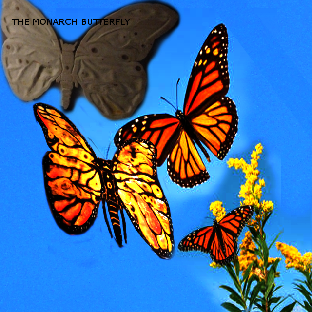 The Monarch Butterfly Wooden Sculpture
