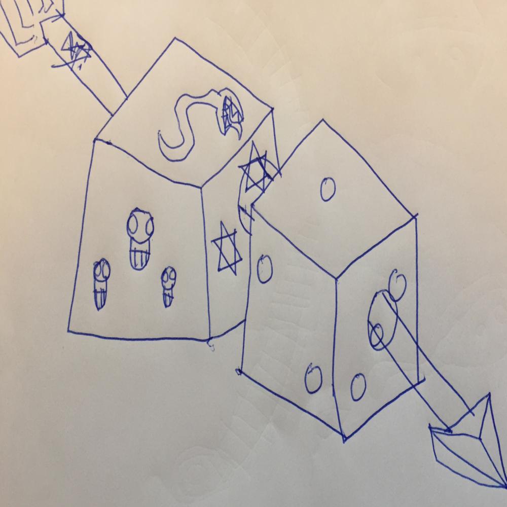 Arow and dice
