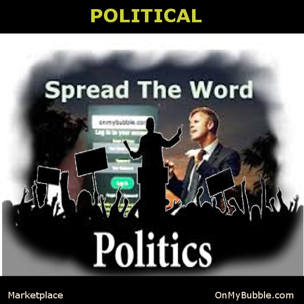 Political Image OnMyBubble.com