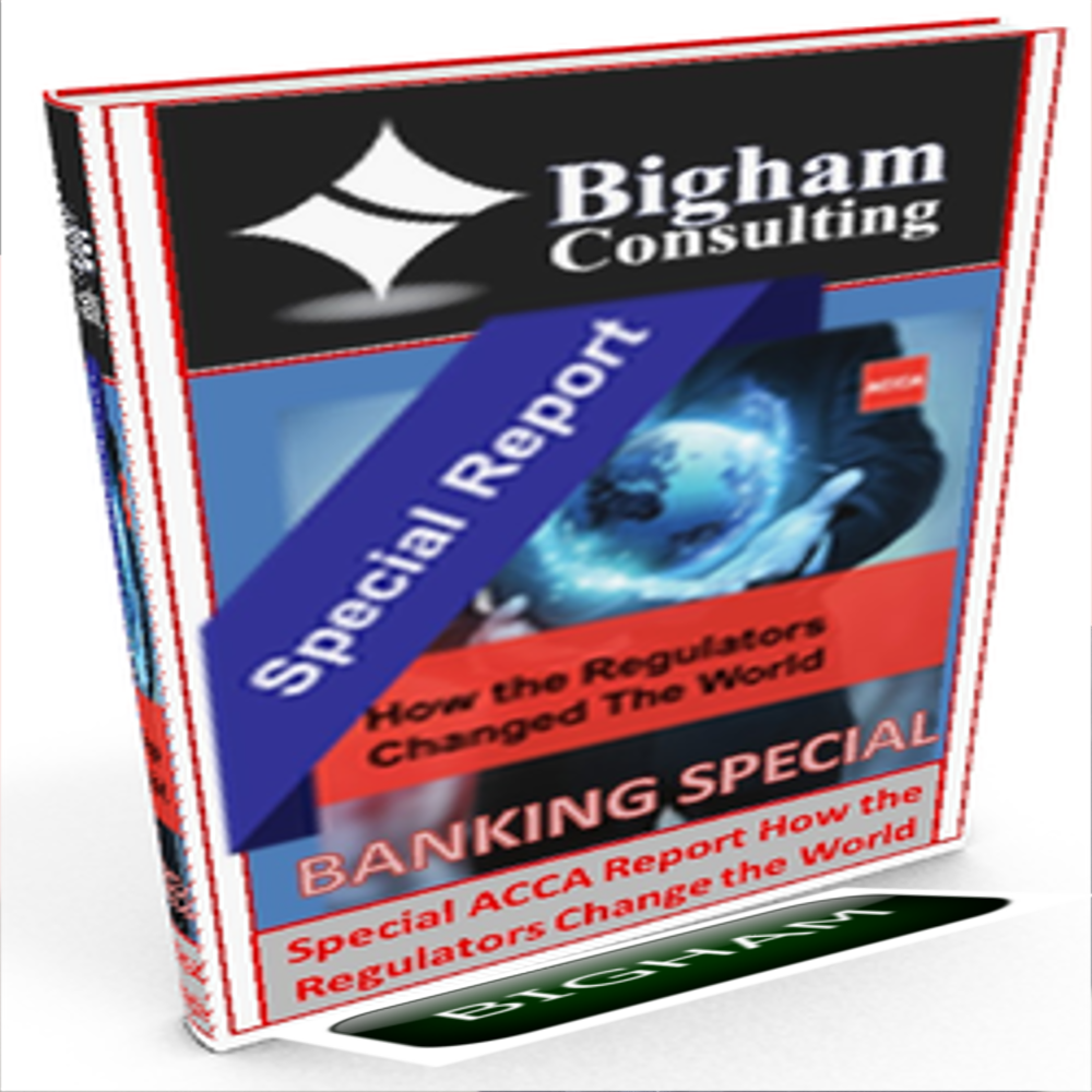 Bigham Consulting offers Senior Executive and C-Suite Consulting service sand supporting subscriber based products including Strategic Analysis, Benchmarking, Current State Assessments, Corporate Finance Valuation and Forecasting, Operating Model Analysis and Development, Strategic Balanced Scorecard Design and Reporting and Governance Implementation Solutions. Finance Transformation Services and Regulated Retail, Corporate and Investment Banking C-Suite Advisory and Interim Management Services. Success and or Value Creation Based Outcome fees may be applicable subject to negotiation and contract. Day Rates quoted are indicative only.