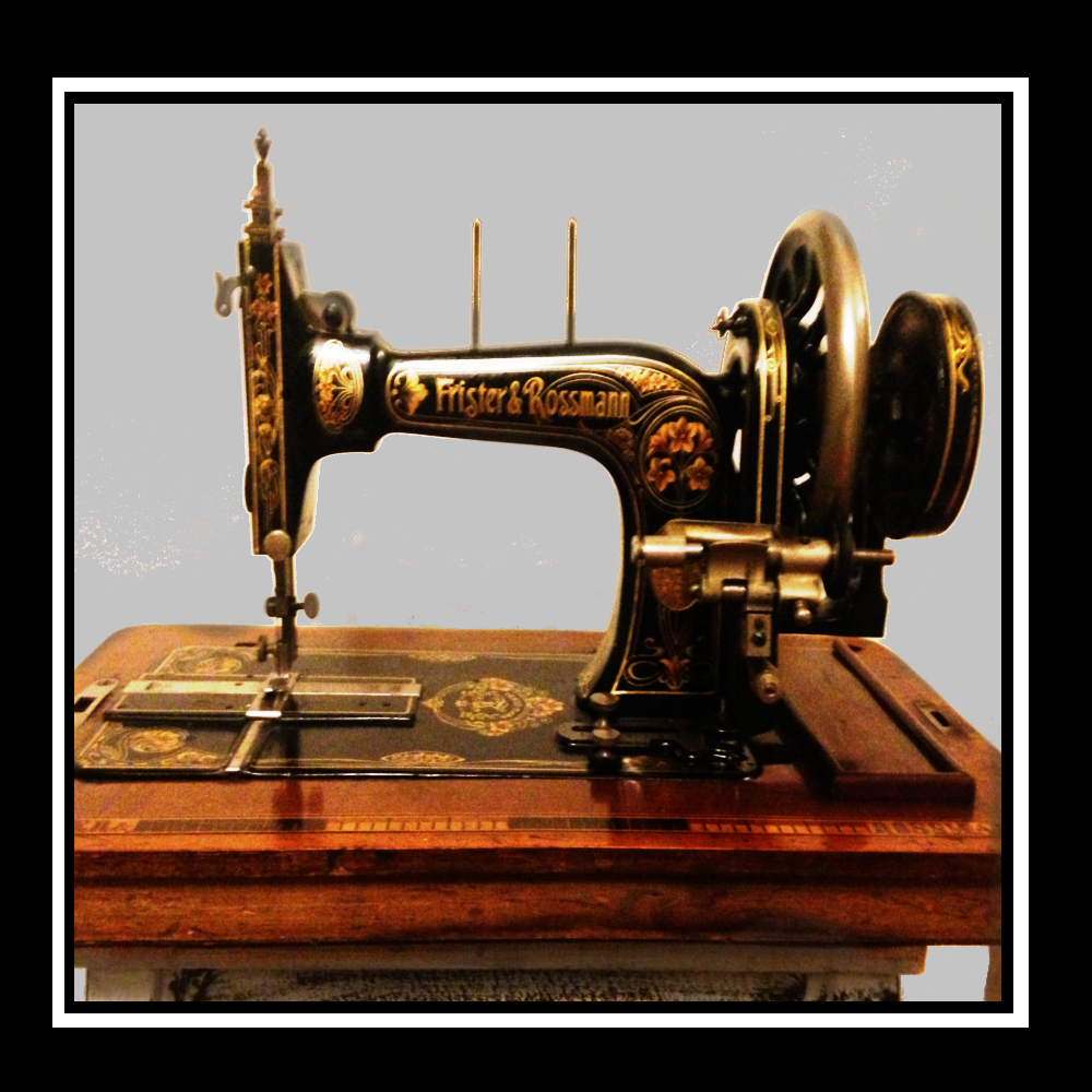 This item can be delivered in the Blackheath Greenwich Lewisham Area of London for Free Antique Frister and Rossmann Hand Crank Sewing Machine For Sale