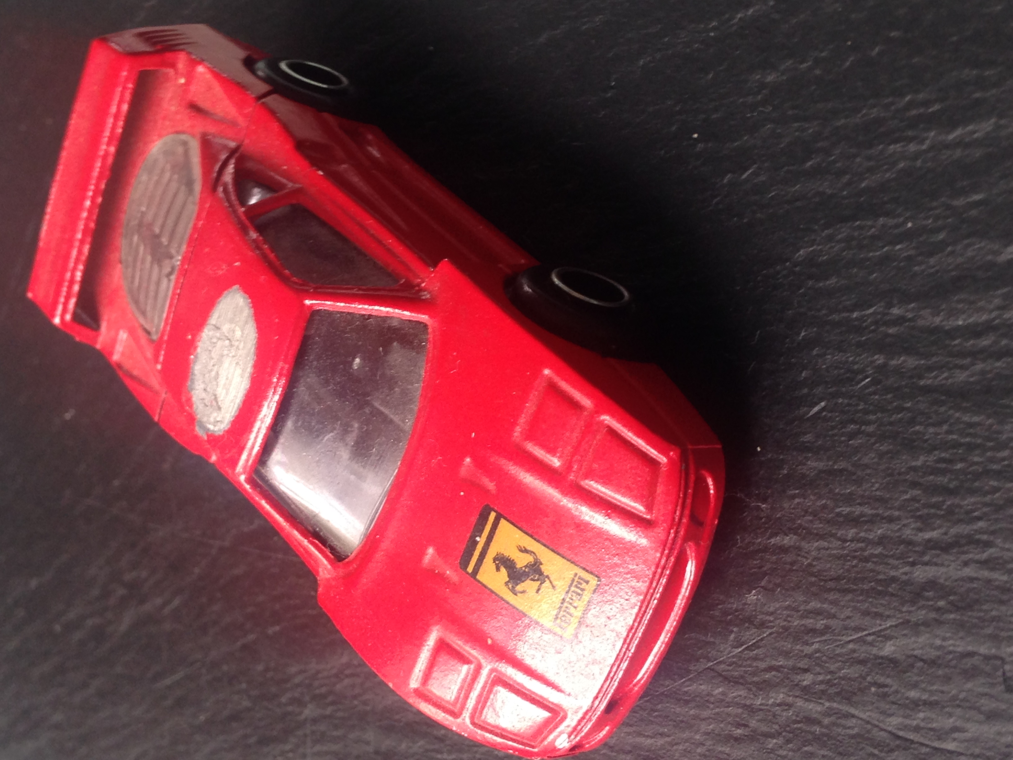 Collection item a red Ferrari toy metal car