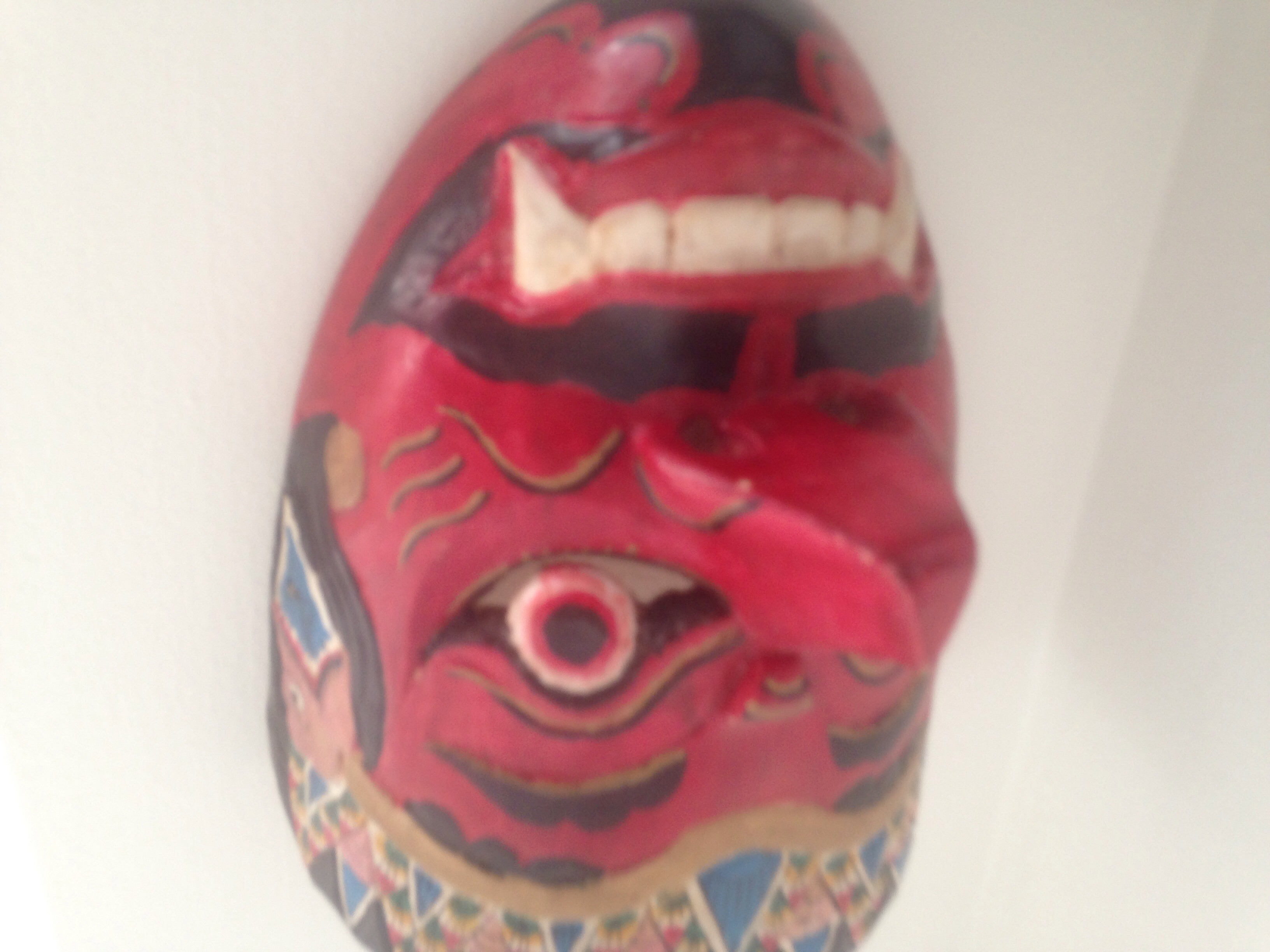 Red mask made of wood hand crafted in Yogyakarta Yogyakarta is regarded as an important centre for classical Javanese fine arts and culture such as ballet, batik textiles, drama, literature, music, poetry, silversmithing, visual arts, and wayang puppetry