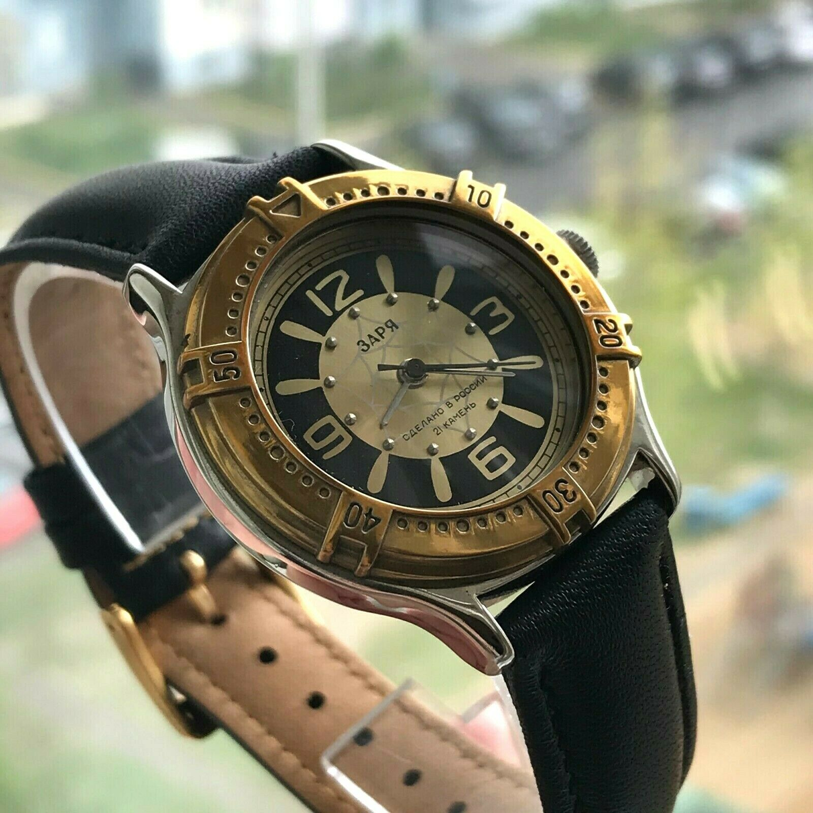 Russian ZARYA Wheel Marine Bicolored New Mens Watch