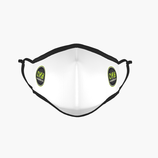 Face Mask White Small Logo