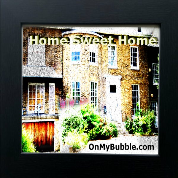 Home Sweet Home Canvas Print Framed