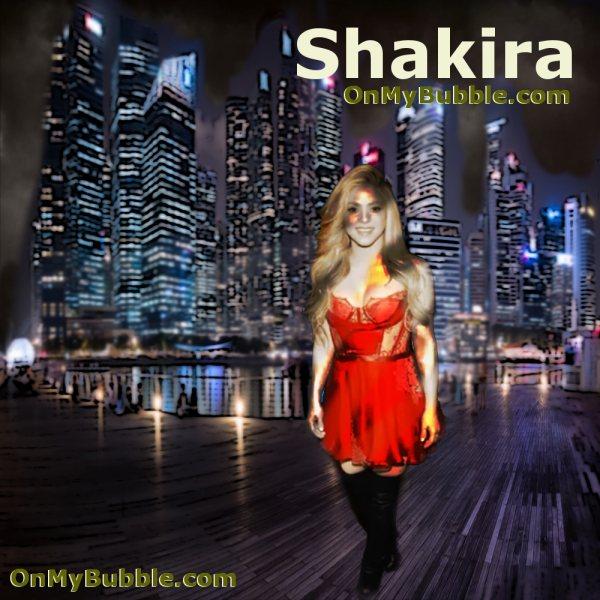 Shakira Night City Poster