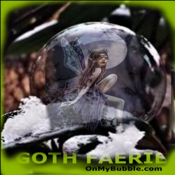 Goth Faerie Frozen In Bubble