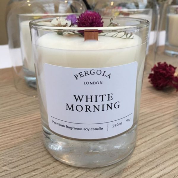 White Morning Candle