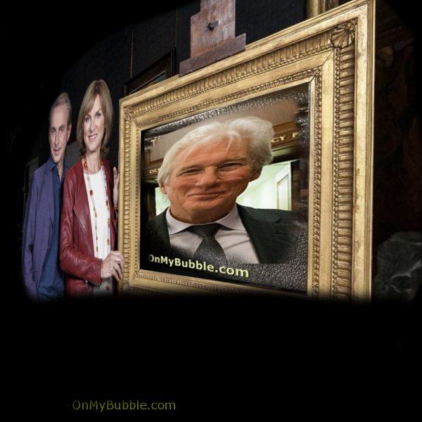 Richard Gear In Gold Picture Frame