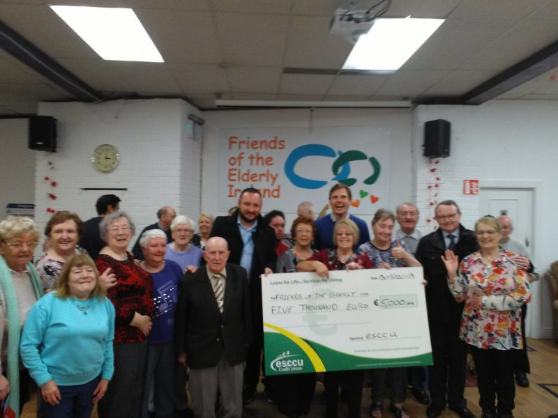 Friends of the Elderly Awarded a five thousand Euros cheque